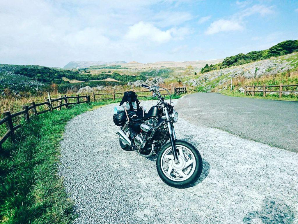 平尾台 バイク