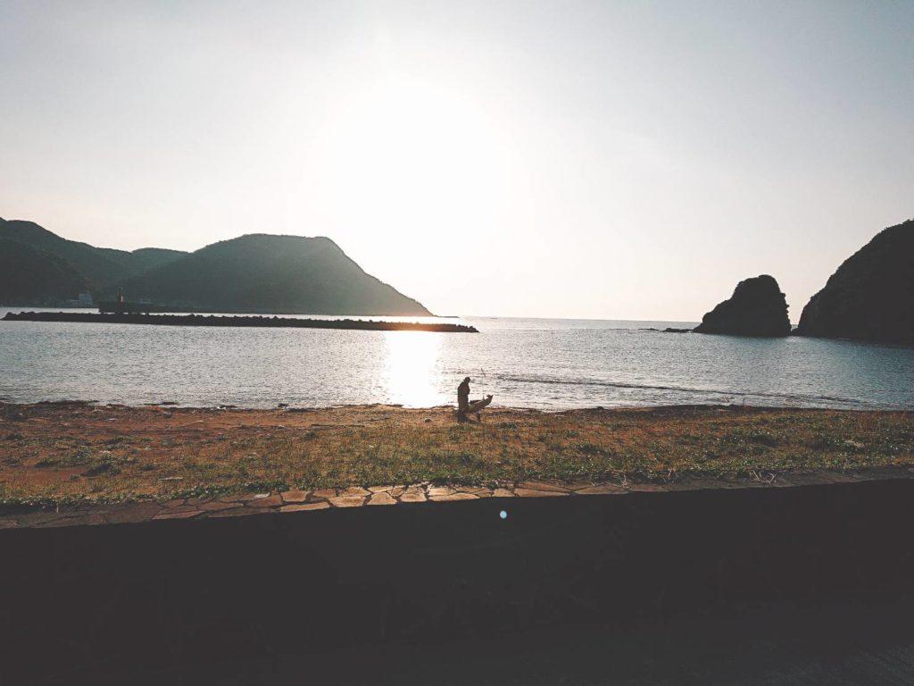 大泊野営キャンプ場 朝日