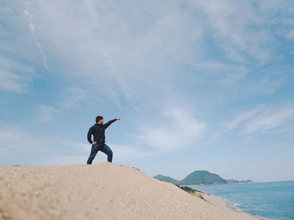 鳥取砂丘 自撮り