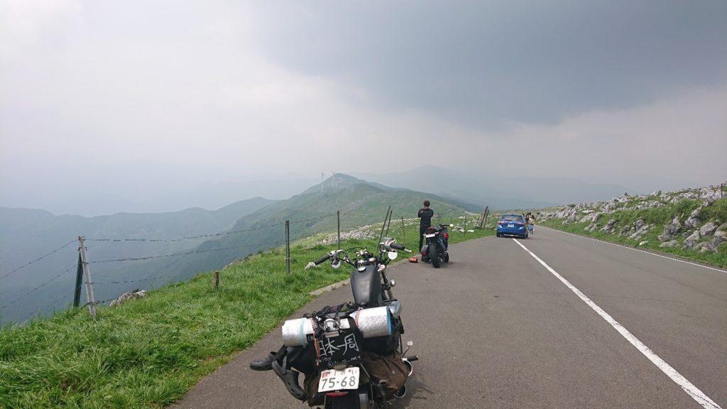 四国カルストとバイク