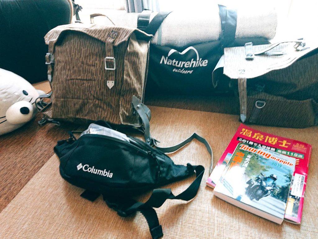 日本一周荷物