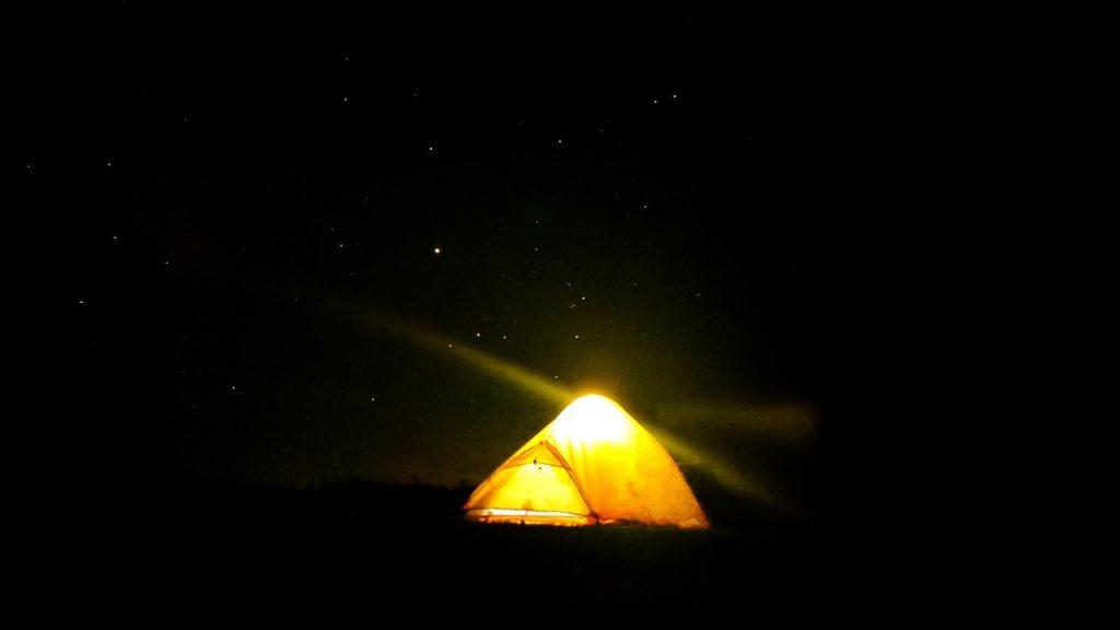 開陽台キャンプ場 夜