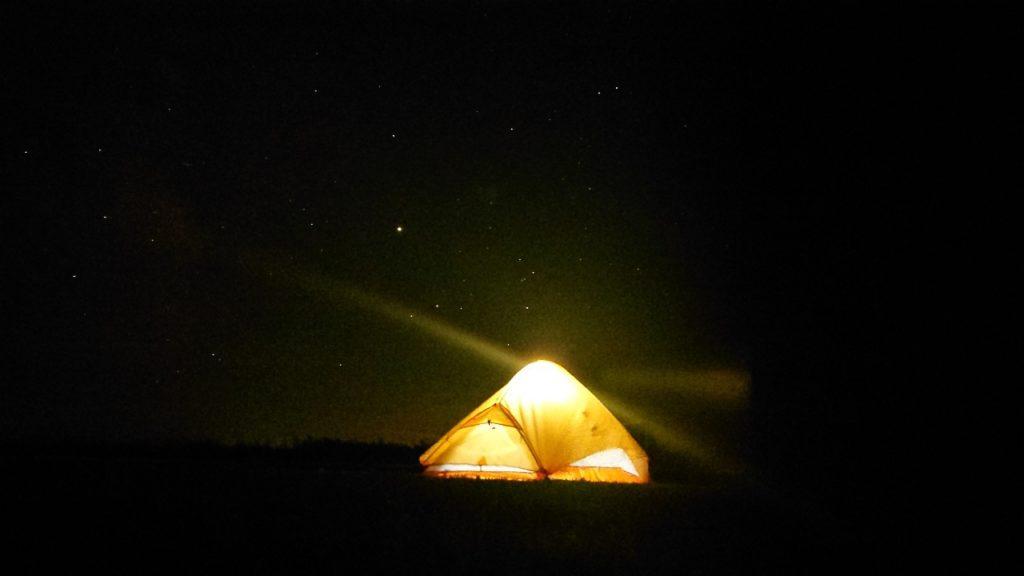 開陽台キャンプ場 星空